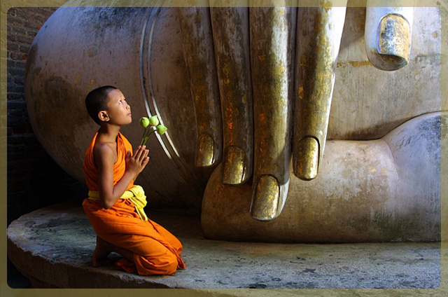Offrande au Bouddha