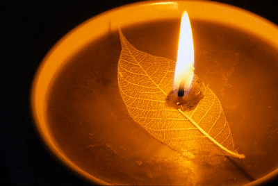 Aromatherapy Candle --- Image by © Royalty-Free/Corbis